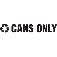 "Recycle Decals ""CANS ONLY"""
