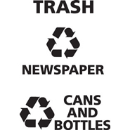 "Recycle Decals for Classics ""CANS AND BOTTLES"""